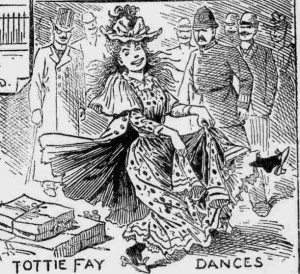 A sketch showing Tottie Fay Dancing.
