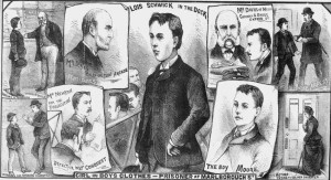 Illustrations showing the various people involved in the case.