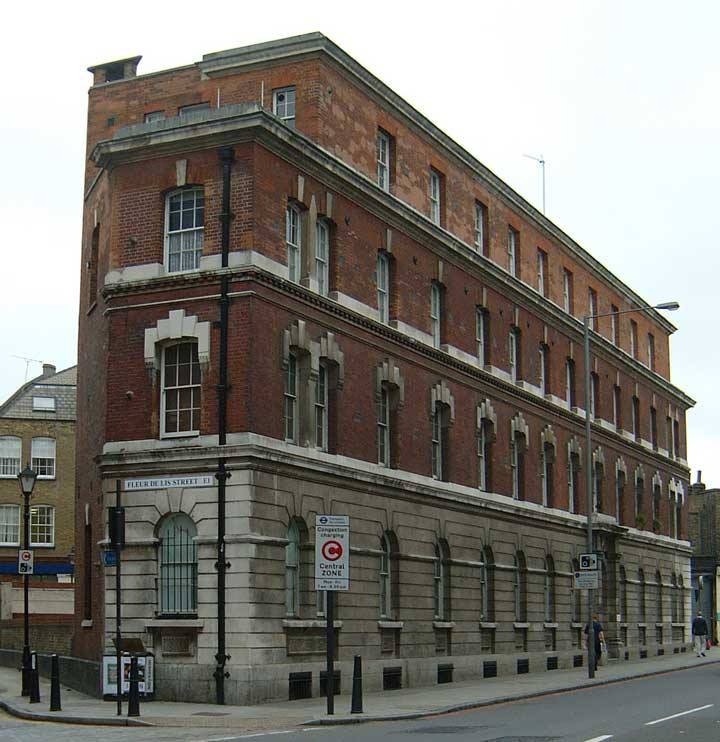 The exterior of Commercial Street Police Station.