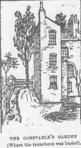 An illustration showing the home of Constable Cooke.