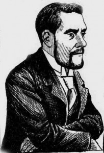 A sketch of Police Constable George Cooke.