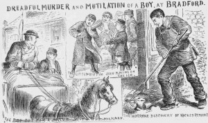 Illustrations shwing the final sightings of John Gill and the finding of his body.