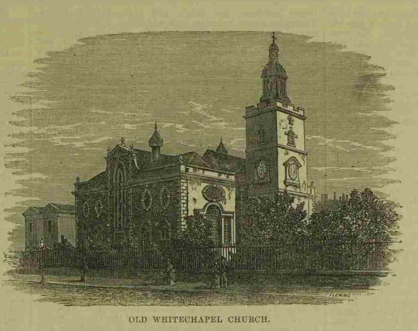 A sketch showing the old Whitechapel.