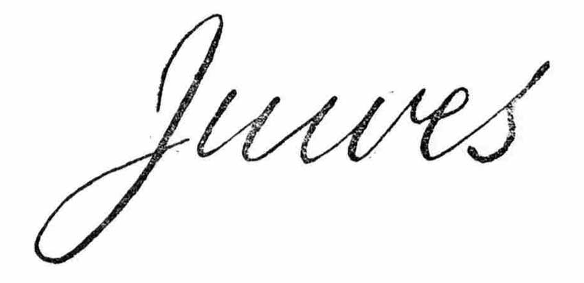 A facsimile of the word Juwes.