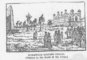 An illustration showing the scene of the murder.