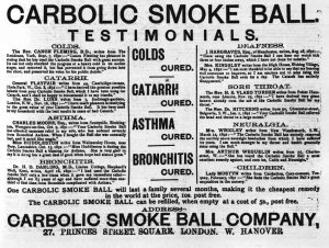 A new advert from the Carbolic Smoke Ball Company.