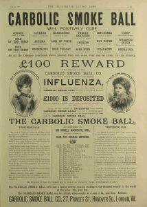 The Carbolic Smokeball Advert.