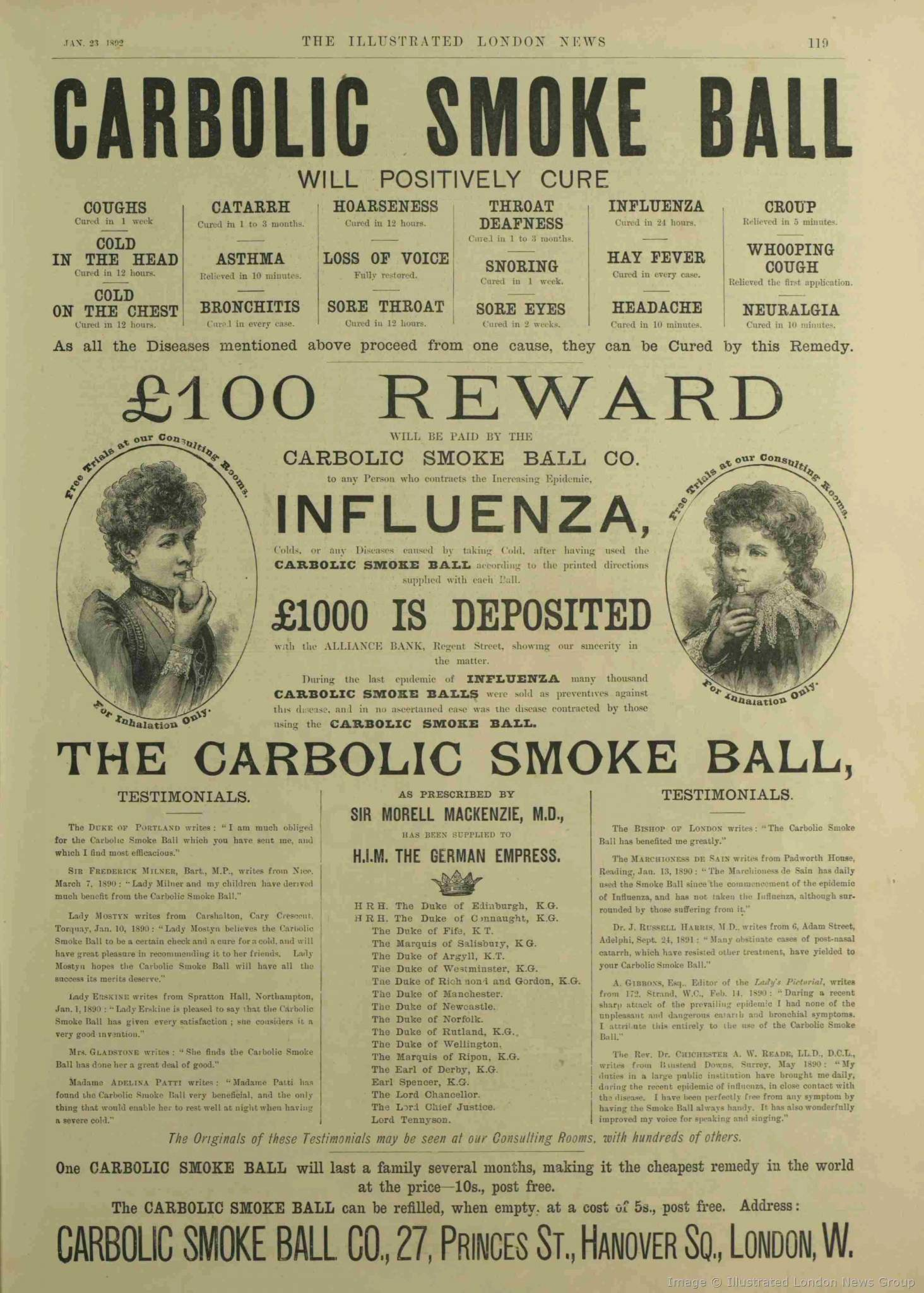 carlill v carbolic smoke ball 1893 Carlill v carbolic smoke ball company [1893] the smoke ball, a device that consisted of a rubber ball with a tube filled with powdered carbolic acid.