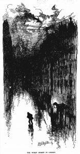 A sketch of Dorset Street.