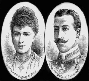 Portraits of Prince Albert Victor and Princess Victoria.