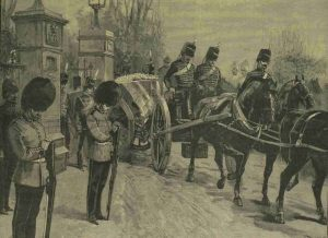 An illustration showing Prince Albert Victor's funeral procession.