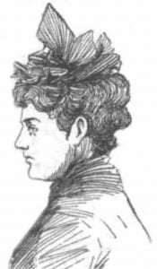 A sketch showing Mrs Moore.
