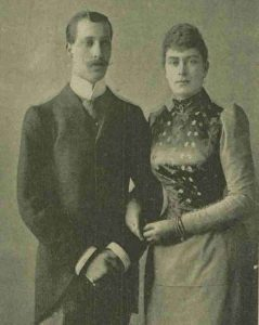 The Duke of Clarence and Princess May of Teck a photograph of them together.