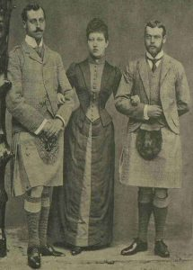 A photograph of the Duke of Clarence, Princess Louise and Prince George.