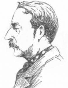 A sketch showing William Austin.
