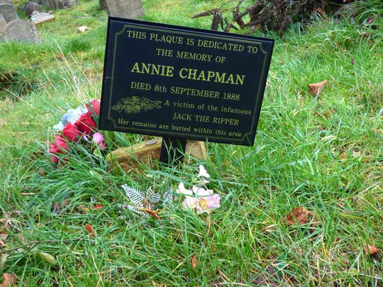 A Photo Showing The Memorial Plaque To Annie Chapman.