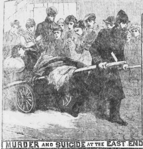 A crows watched Hannah Potzdamer being taken to hospital on a barrow.