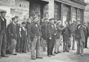 A group of 19th century itinerant labourers.
