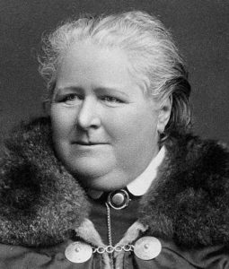 A photograph of Frances Power Cobbe.