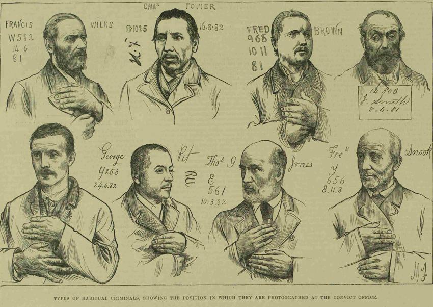 Images of habitual criminals.