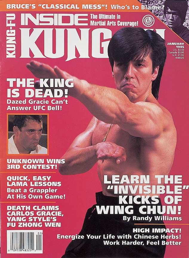 Randy Williams in Martial Arts pose on a magazine cover.