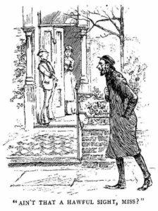Whitechapel 'Arry talking to a lady.