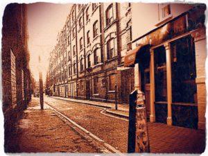 A photo of Thrawl Street.