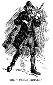 A portrait of the Demon Fiddler.