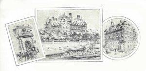 An illustration showing New Scotland Yard.