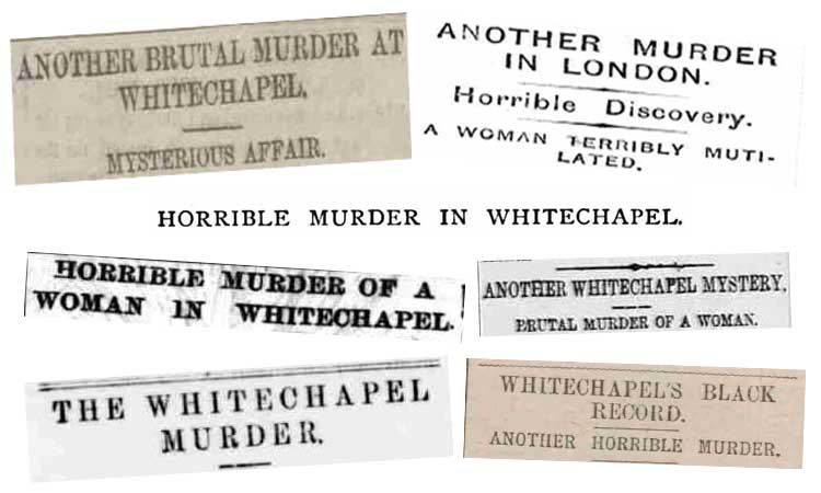 A slection of headlines from 31st August, 1888.
