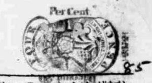 A newspaper stamp.