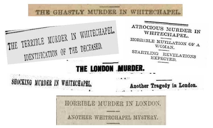 A selection of the newspaper headlines from the 1st September, 1888