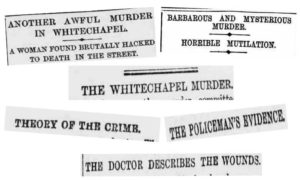 A slection of the newspaper headlines from the 2nd of September 1888.