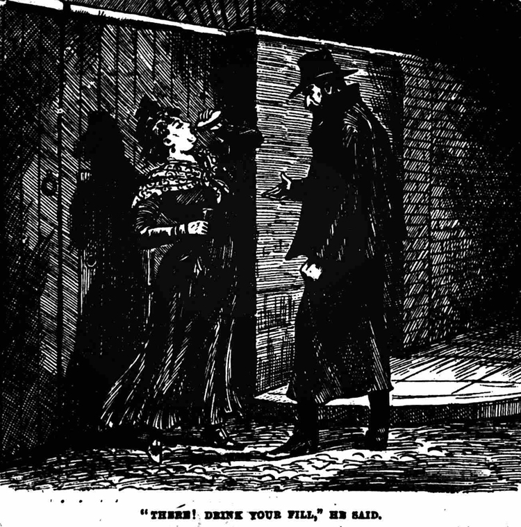 An illustration of Slade with Mary Nichols.