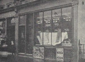 A photograph of an eating house in Whitechapel.