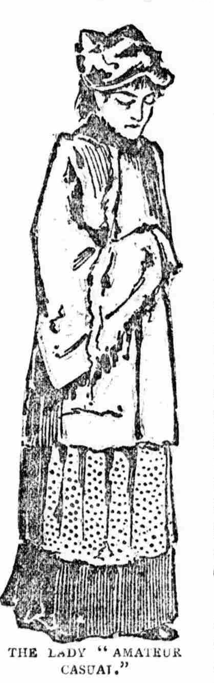 A sketch showing the lady Amateur Casual.