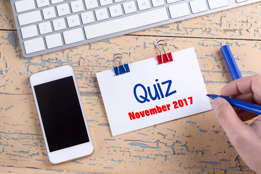 The November Quiz image.