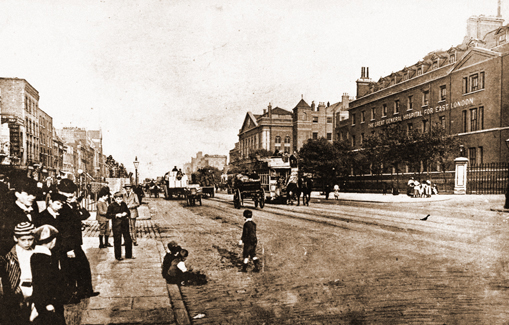 A view along Whitechapel Road.