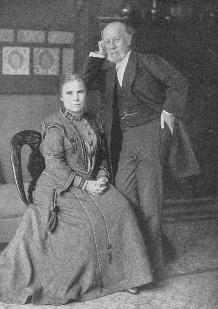 A photograph of Mr and Mrs Barnett.