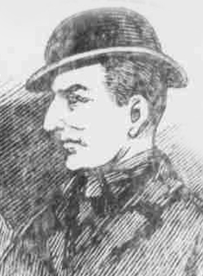 A portrait of the murderer George Galletly.