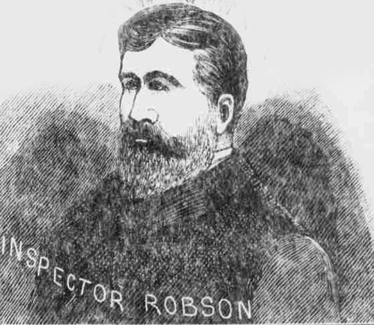 A portrait of Inspector Robson.