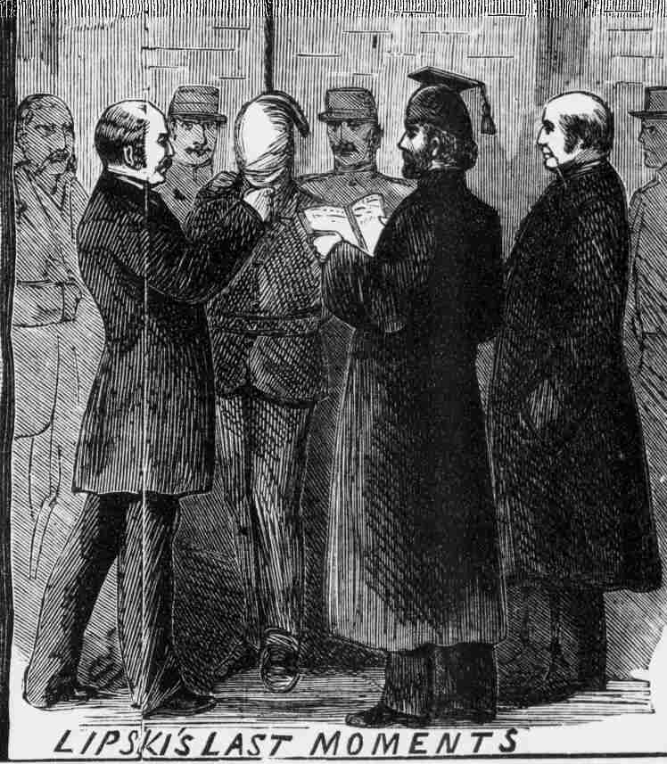 An illustration of the execution of Israel Lipski.