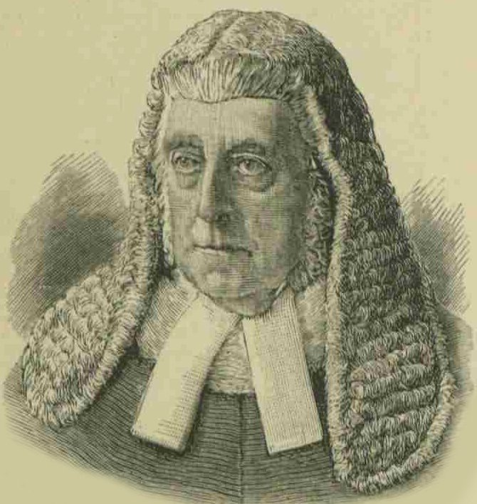 A portrait of the judge Mr. Justice Denman.