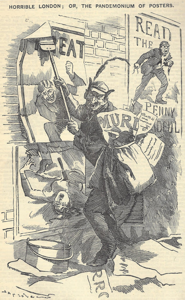 The Punch Cartoon The Pandemonium of Posters.