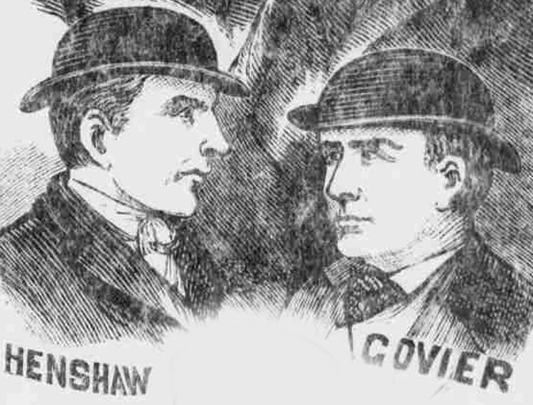 Portraits of two of the other suspects in the murder.