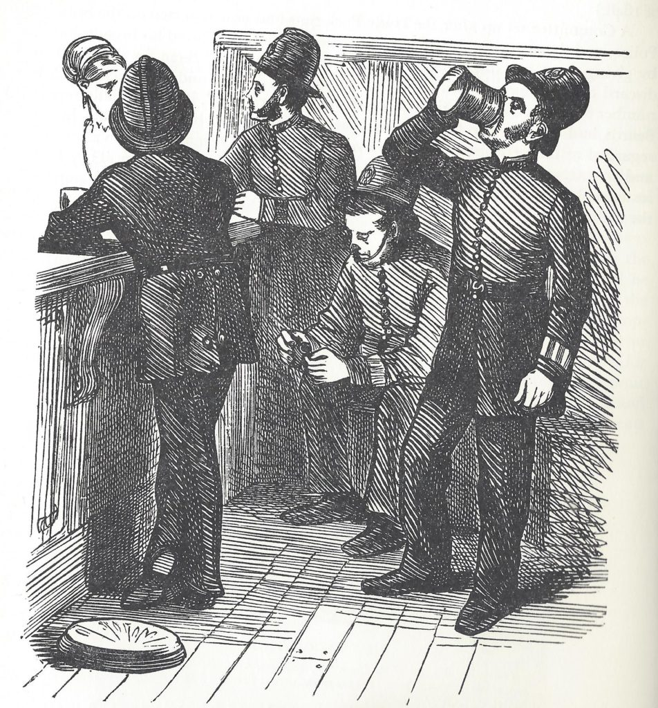 A group of constables enjoying a drink.