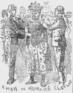 Edward Hamblar being detained by the police.