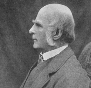 A photograph of Sir Francis Galton.