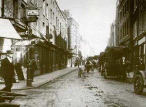 A photograph showing Hanbury Street.