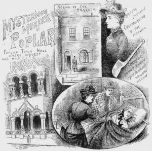 Illustrations showing the Poplar Murder.